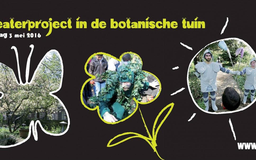 theaterproject in de botanische tuin Kralingen