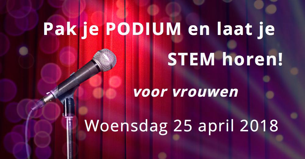 Workshop 'Pak je podium en laat je stem horen!' voor vrouwen – 25 april 2018! Schrijf je NU in!